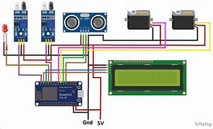 Circuit Diagram For Iot Based Smart Parking System Using