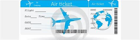 free printable airline ticket template ticket template for plane exle of plane ticket template sle templates