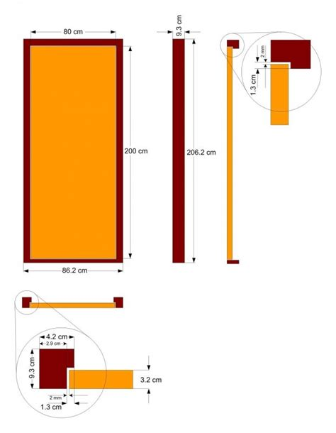 standard door height single door size