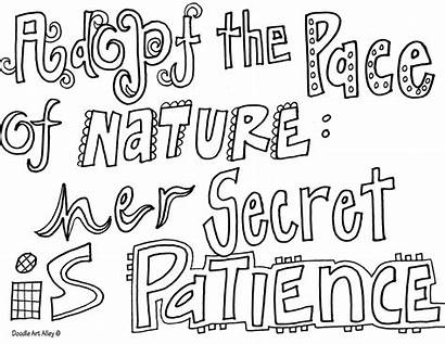 Pages Quote Coloring Doodle Quotes Alley Inspirational