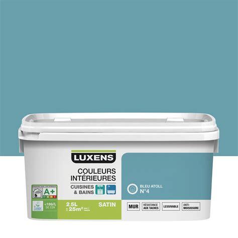 leroy merlin rangement cuisine peinture couleurs intérieures luxens bleu atoll 4 2 5 l