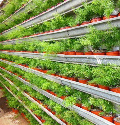 Gutter Vertical Garden by Bhg Bedding Diy Vertical Garden With Gutters Vertical