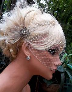 Wedding Bridal Hair Fascinator And French Net Birdcage