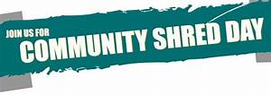 community shred day With where can i find a place to shred documents