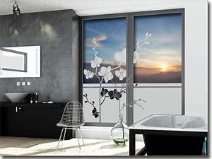 Bad Fenster Blickdicht : sichtschutzfolie orchidee ~ Michelbontemps.com Haus und Dekorationen