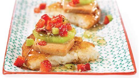 pizza sushi dessert au foie gras et au kiwi recette iga