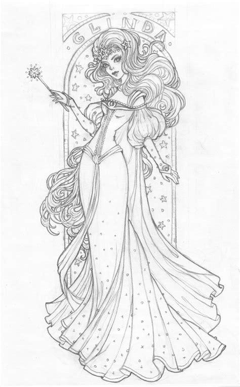 create  art nouveau inspired glinda character  adobe