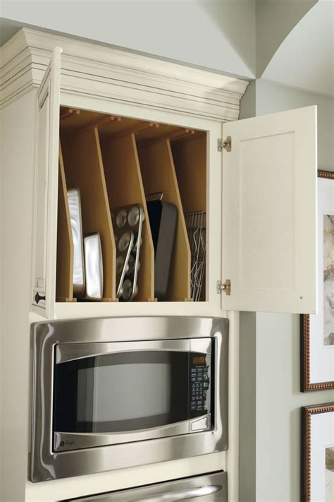 tray cabinet divider oven wall dividers hinge kitchen schrock diamond cabinets above trays fridge close door cabinetry favorite