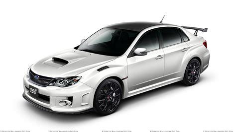 subaru white car subaru impreza wrx sti s206 in white n white background