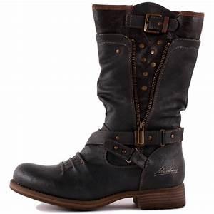 mustang 1139 609 20 womens biker boots in dark grey With best women s motorcycle boots
