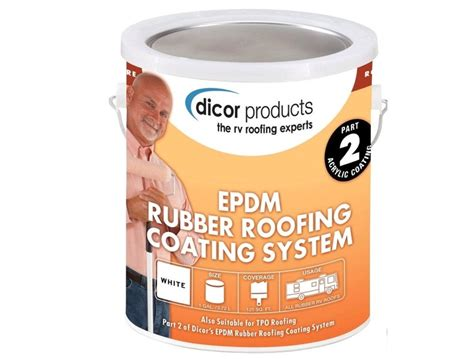 Dicor Epdm Roof Coating, White, 1 Gallon Red Roof Inn Cary Nc How Much Should A Cost Millard Roofing And Gutter Car Tie Down Straps Gaf System San Antonio North Creek Jacksonville Airport Fl