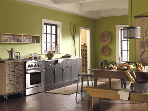 Quarter sawn white oak w/ cerused finish; 4 Cool Kitchen Paint Colors - MidCityEast