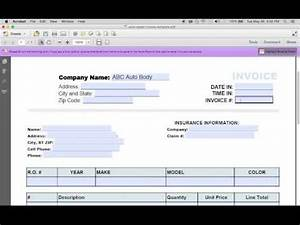 Auto Body Repair Invoice How To Make An Auto Repair Invoice Excel Pdf Word