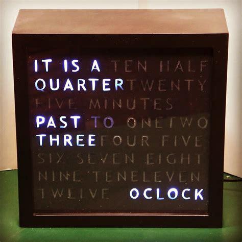 build  arduino word clock mike gualtieri