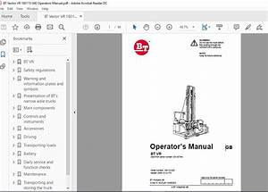 Bt Vector Vr 180115-040 Operators Manual - Homepage