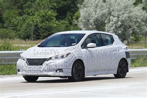 new nissan leaf new 2018 nissan leaf spyshots interior and exterior revealed