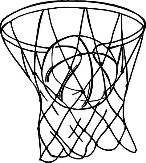 Basket Playing Basketball Coloring Page Wecoloringpagecom