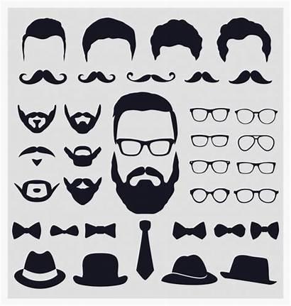 Beard Vector Hipster Mustache Vectors Clip Clipart