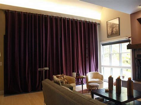 Red Curtains Living Room Ideas by Extra Long Curtain Rods That Are Ideal For Creating