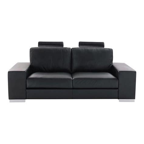 canape en cuir noir canapé 2 places en cuir noir daytona maisons du monde