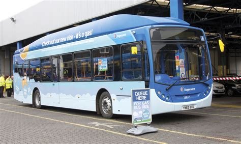 stagecoach launches gas fleet  sunderland bus coach