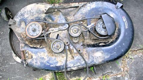 Craftsman Lt2000 Deck Belt by Help Me Fix My Craftsman Lawn Tractor Deck 1