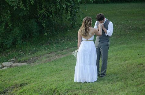 Wedding Photography Ideas. Casual Bride And Groom. Rustic