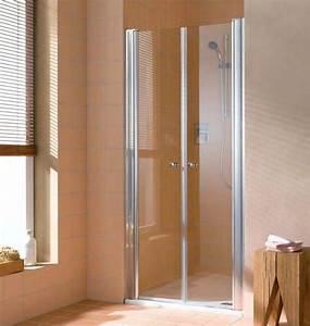 Paroi de douche porte a 2 battantes type saloon modele for Porte de douche rothalux