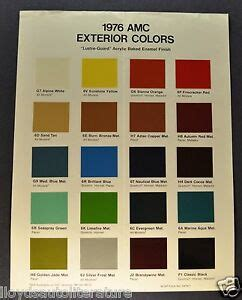 pacers colors 1976 amc paint chip colors brochure sheet pacer gremlin x