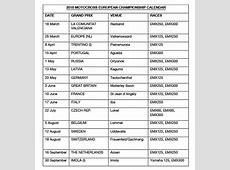 2018 Motocross European Championship Calendar Fim Europe