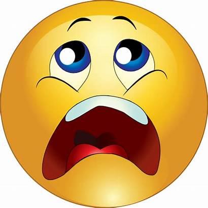 Smiley Clipart Emoji Scared Scream Emoticon Faces