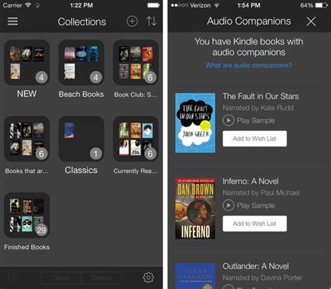 how to listen to kindle books on iphone kindle for ios adds ability to listen to audible books