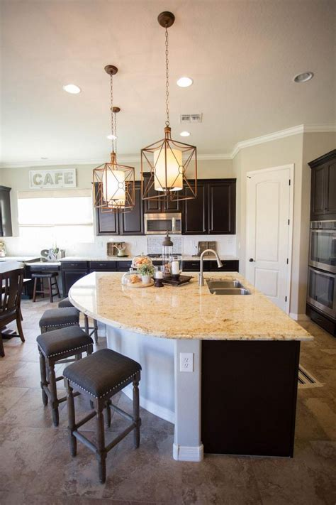 unique curved kitchen island  extra casual