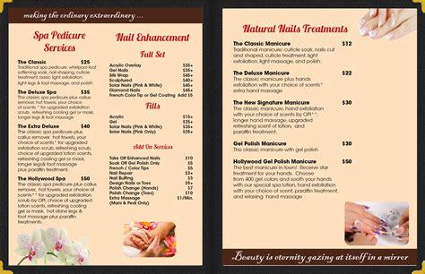 spa menu template spa menu template hunecompany