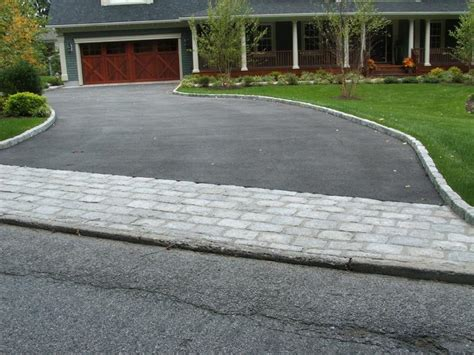 blacktop driveway ideas like the blacktop and the paver combo my new pinterest driveways driveway ideas and