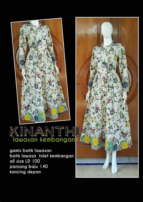 Gamis Lebaran Wanita jual gamis kinanthi gamis batik grosir model baju