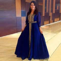 robe de mariage arabe 2016 arabe musulmane manches longues robe de mariage robe dubaï marocaine bleu royal