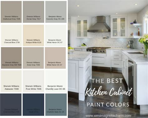 Kitchen Cabinet Paint Products by Popular Kitchen Cabinet Paint Colors West Magnolia Charm