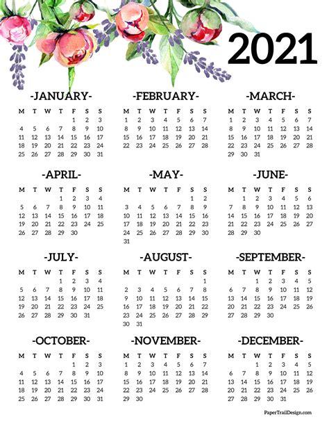 page calendar monday start paper trail design