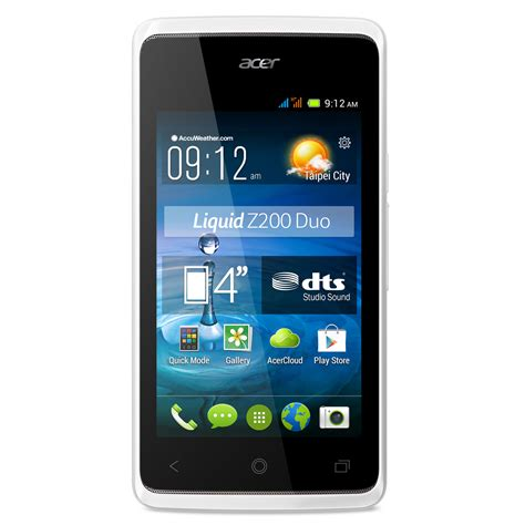 acer android mobile acer liquid z200 duo blanc mobile smartphone acer sur