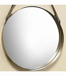 Miroir Doré Rond : miroir rond suspendu en m tal dor diam tre 45cm ~ Teatrodelosmanantiales.com Idées de Décoration