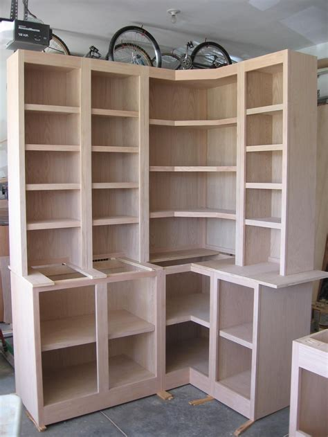 Bookcases And Cabinets by Build A Corner Bookcase Corner Cabinets W Bookcases
