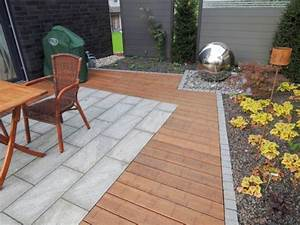 Terrasse Holz Stein Kombination : terrasse aus holz und stein wohn design ~ Eleganceandgraceweddings.com Haus und Dekorationen