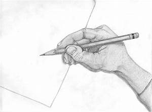 hand holding pencil by InfinitysEnd on DeviantArt