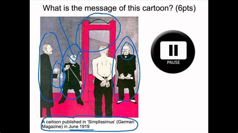 Treaty Of Versailles Cartoon Analysis Guillotine Youtube