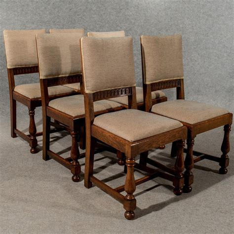 antique oak set 6 six dining or kitchen chairs antiques