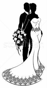 Dessin Couple Mariage Noir Et Blanc : mari e mari fleurs mariage silhouette couple ~ Melissatoandfro.com Idées de Décoration