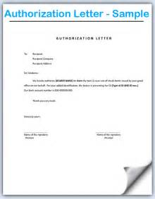 Authorization Letter In Bank Authorization Letter Format For Birth Certificate Authorization by Sle Authorization Letter To Get Money Documents