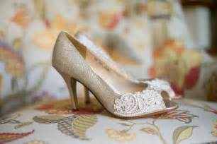floral wedding shoes wedding shoes gold chagne silver metallic peep toe high