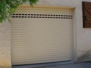pose de porte de garage aluminium electrique a enroulement With porte garage electrique